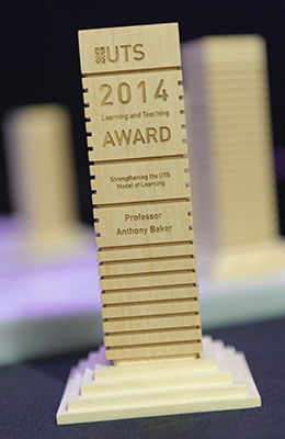 Vice-Chancellor's Learning and Teaching award trophy