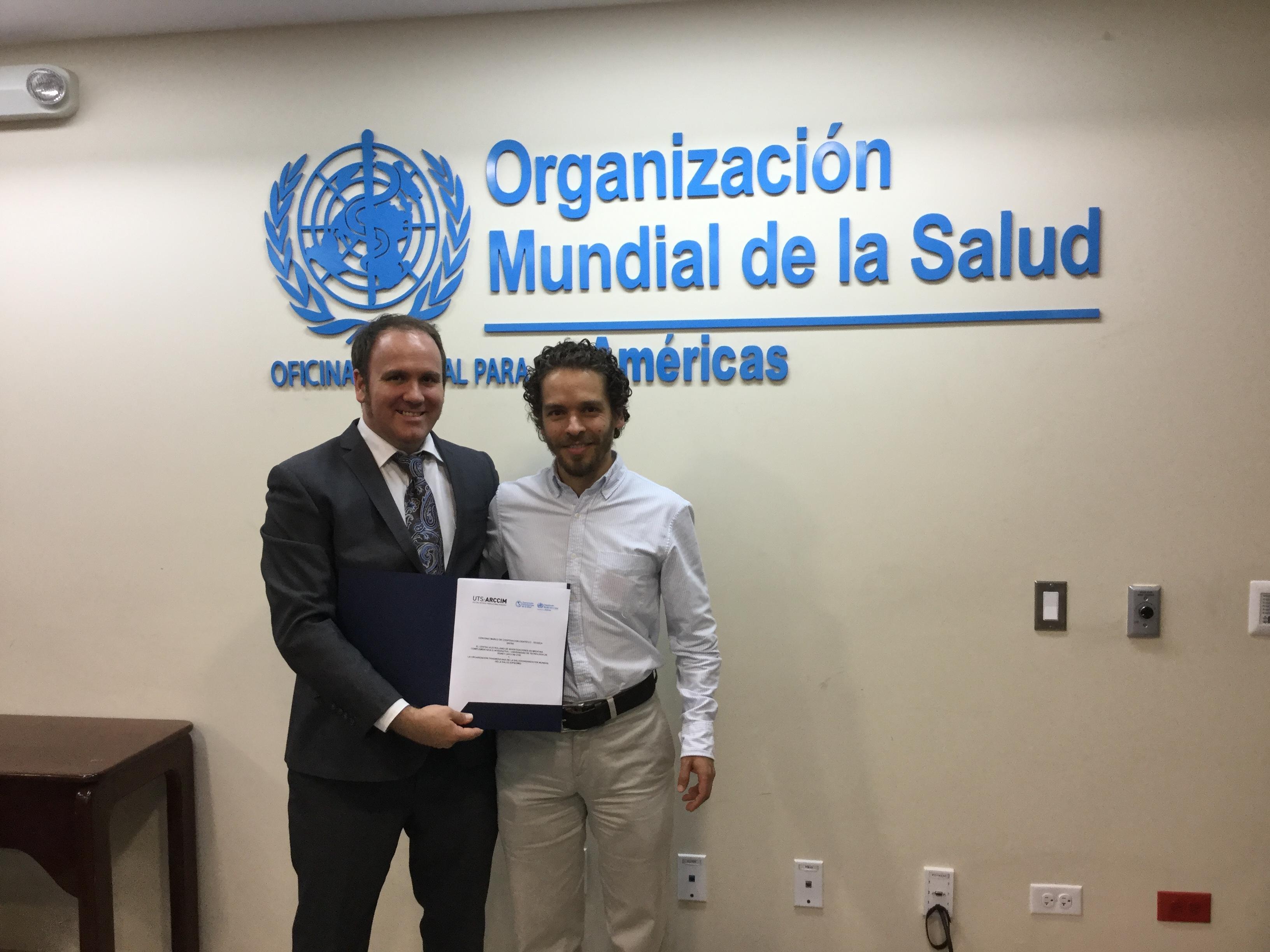 Dr Jon Wardle and Dr Socorro Galiano