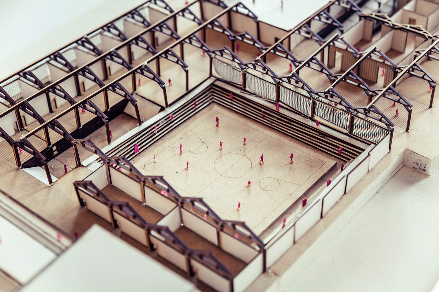 architecture wooden model of building