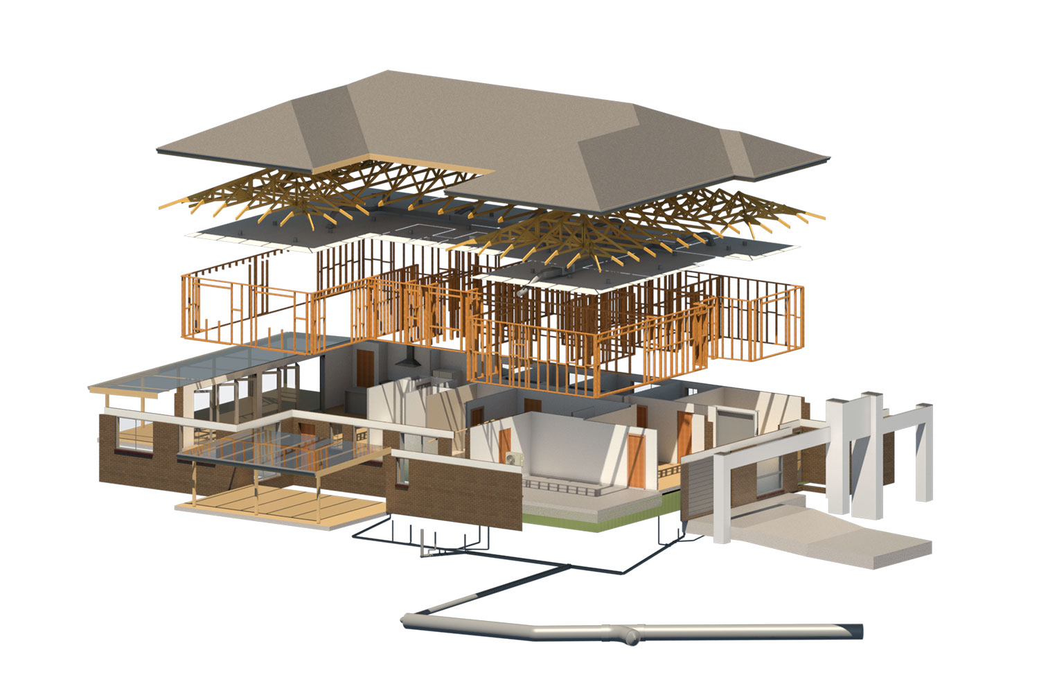 3d computer plans of house
