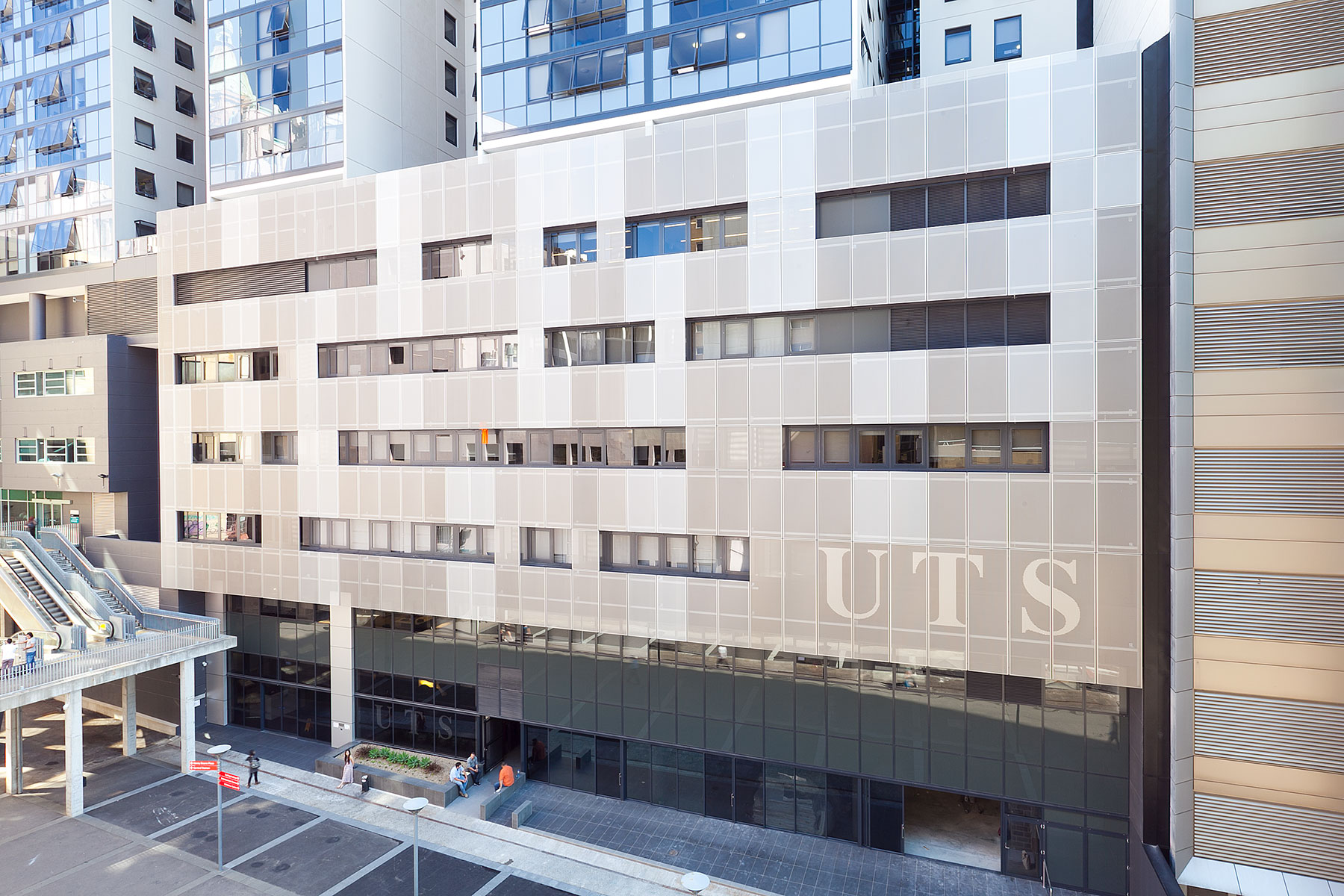 The back facade of Peter Johnson Building, where UTS: DAB is located