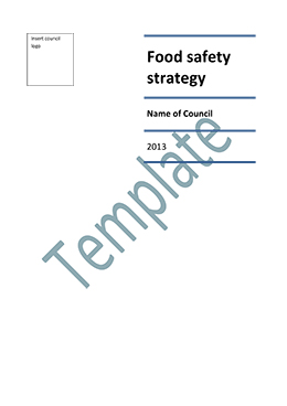 Food safety strategy template cover