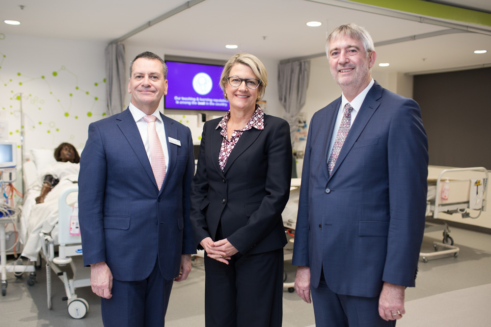 Dean of the Faculty of Health Professor John Daly, Secretary of the NSW Ministry of Health Elizabeth Koff and UTS Provost Professor Peter Booth at the official opening. Picture by Anna Zhu