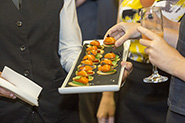 canapes served at book launch