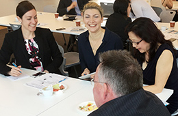 Group of attendees enjoying a networking opportunity at one of Business Practice's Breakfast Series