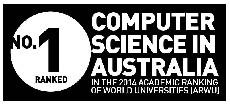 UTS ranked number 1 in Australia for Computer Science according to 2014 Academic Ranking of World Universities (ARWU)