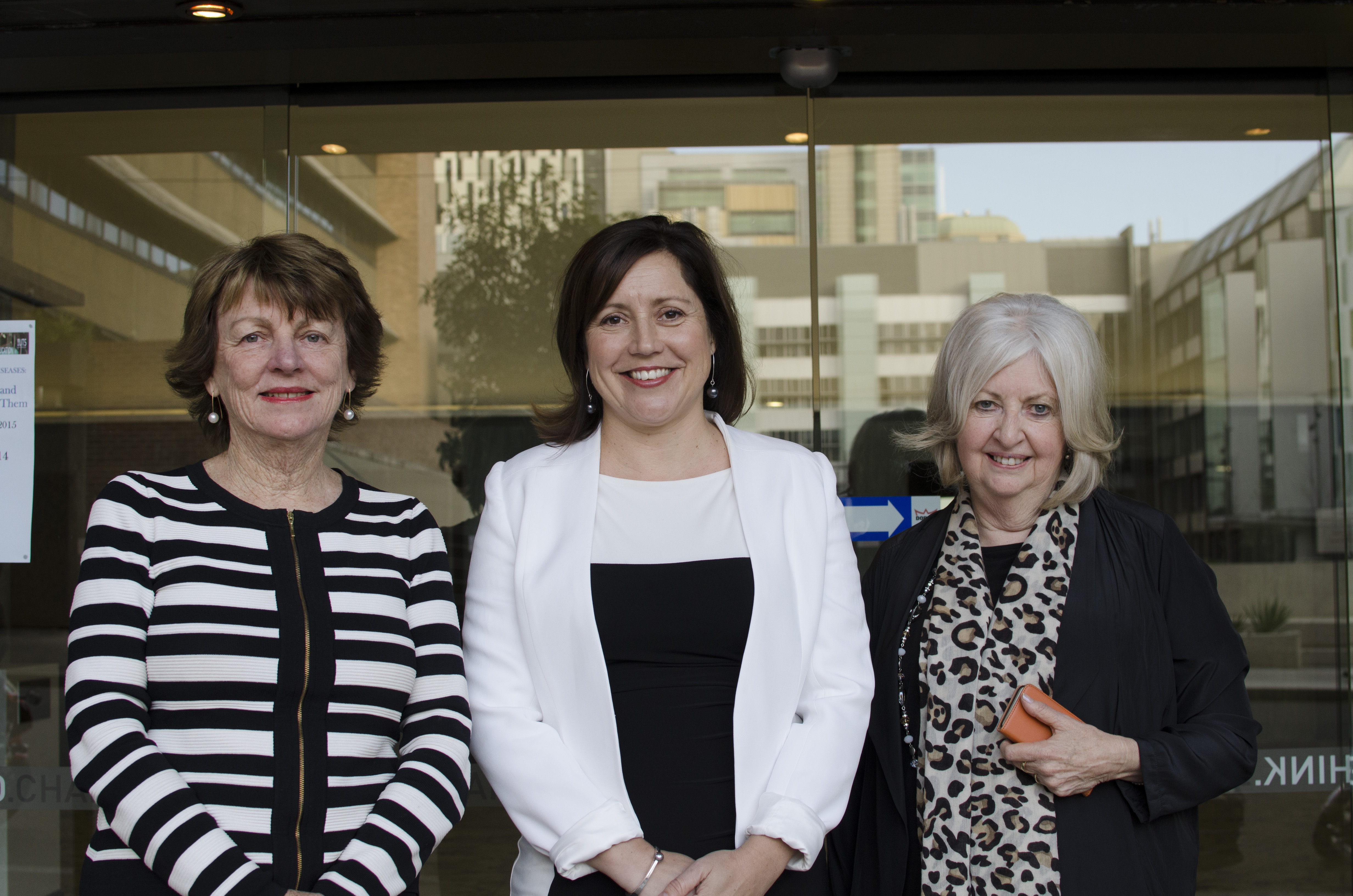 Shirley Alexander, Kerryn Baird, Rosemary Johnston outside UTS