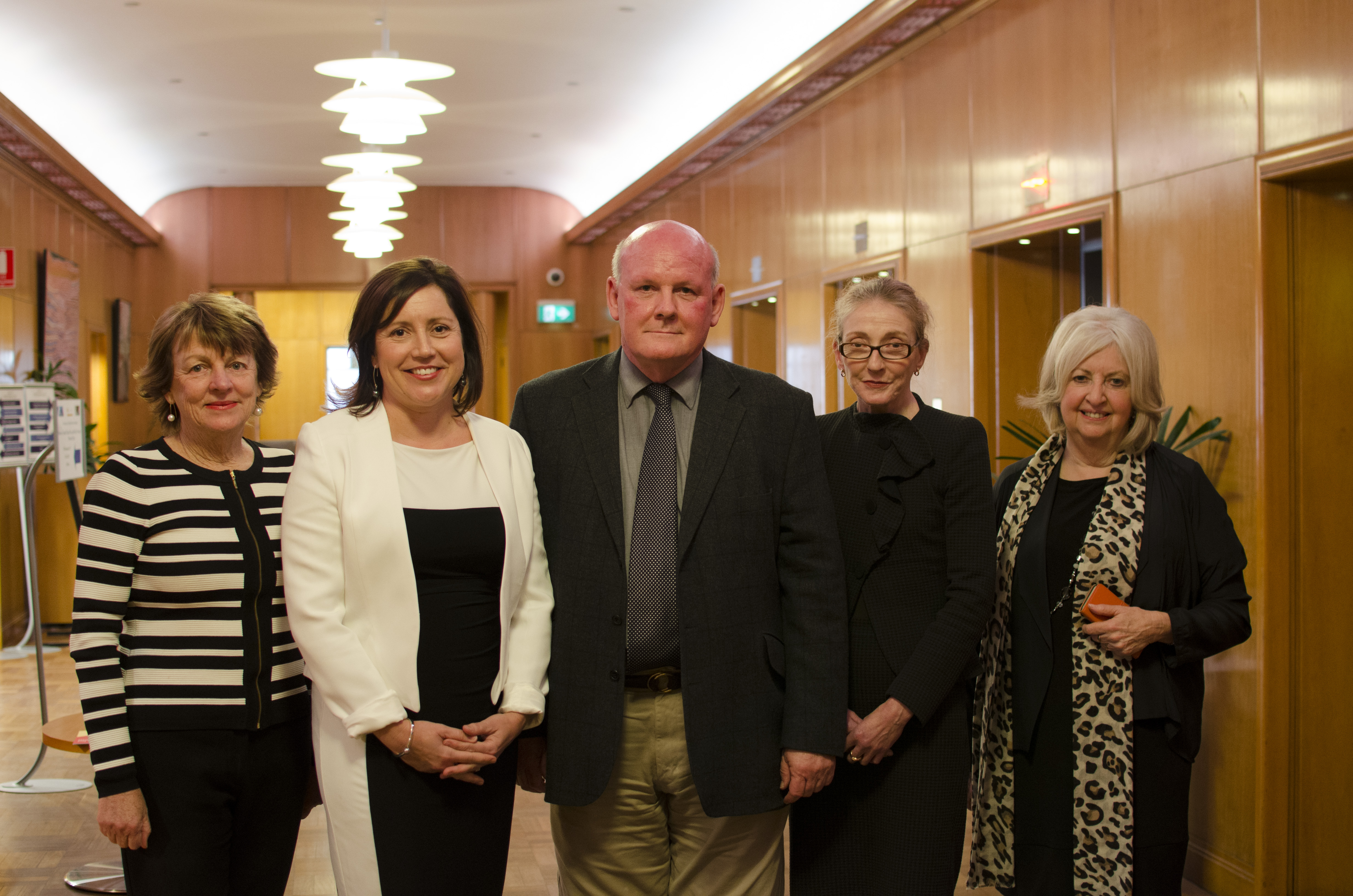 Shirley Alexander, Kerryn Baird, Philip Norrie, Mrs Norrie, Rosemary Johnston