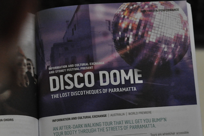 Sydney Festival program showing Disco Dome event