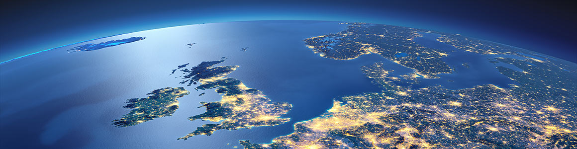 Earth at night as seen from a satellite Image: Shutterstock
