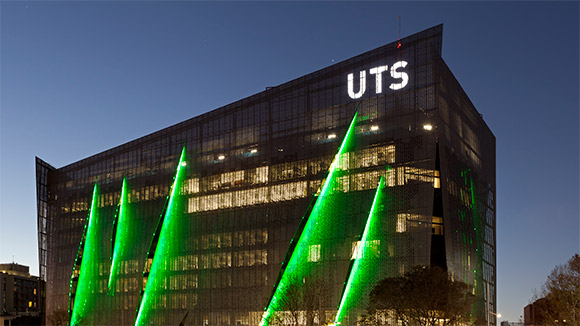 UTS:FEIT building at night by Andrew Worssam