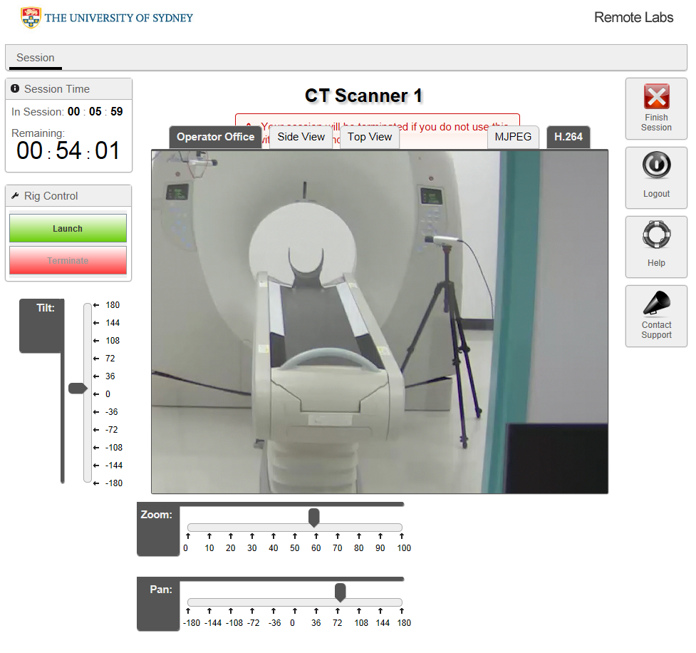 Remotely accessible CT scanner at the University of Sydney