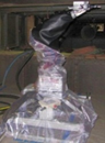 Photo of the grit-blasting robot