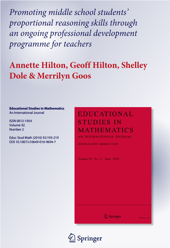 Promoting middle school students' proportional reasoning skills through an ongoing professional development programme for teachers