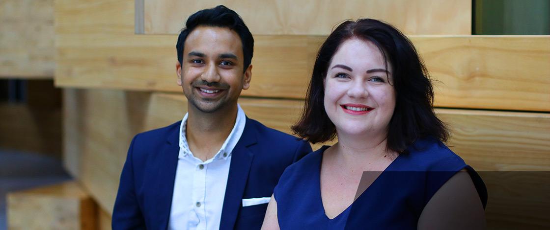 Arjun Bisen and Alison Whittaker. Photo by Hoc Ngo
