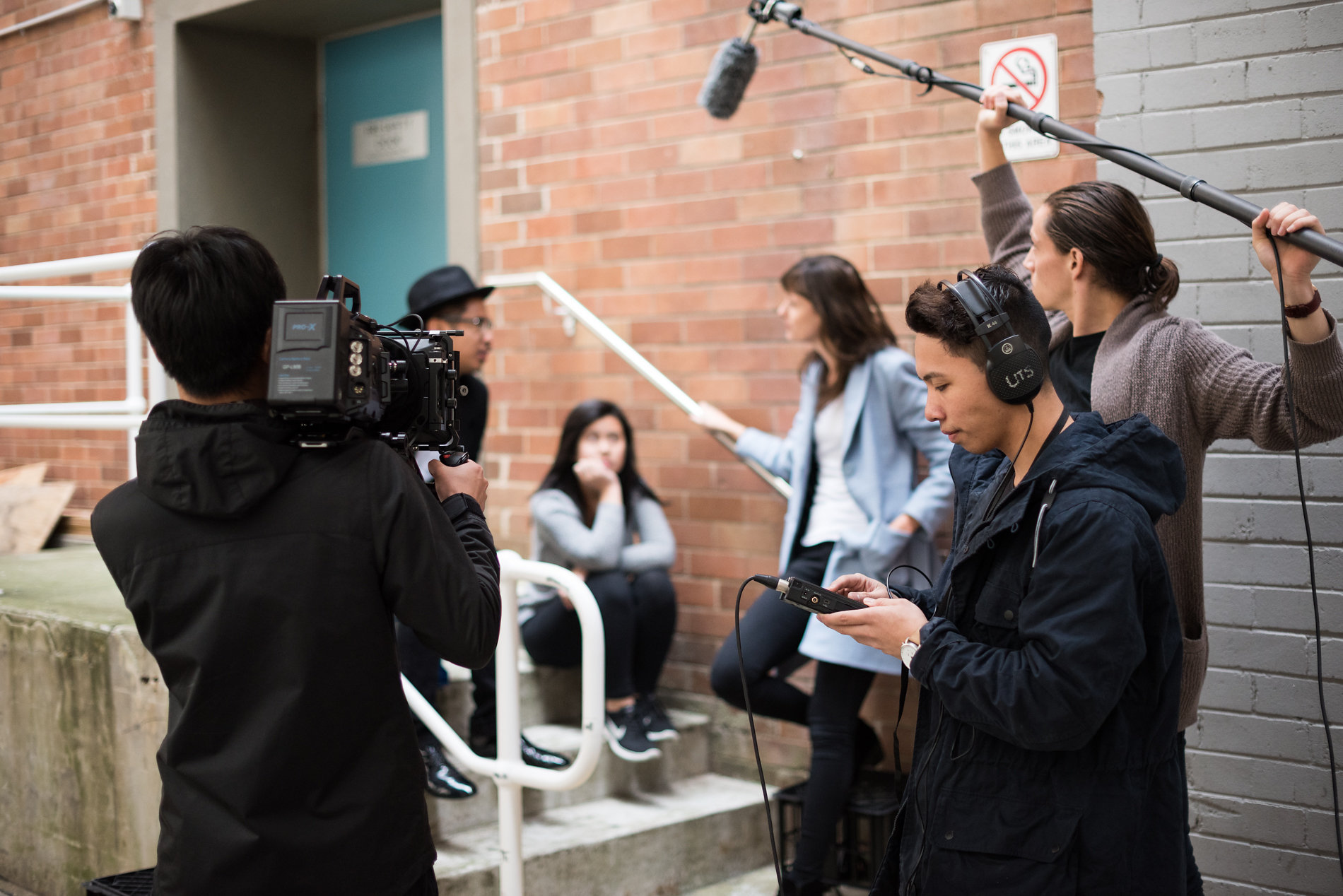 Student film shoot UTS
