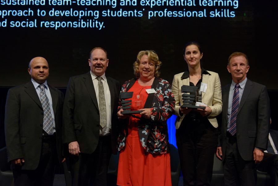 Lisa Andersen and Natalia Nikolova accept their award