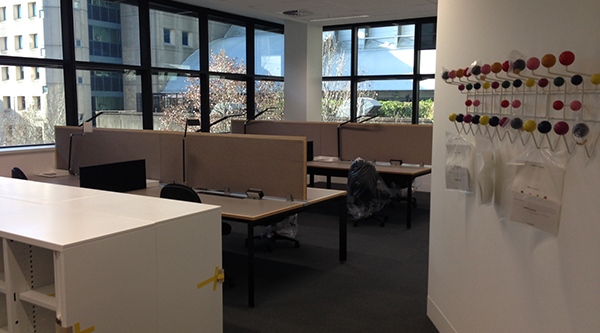 Open-plan workspaces being built on level 5 will replicate those in Building 7.