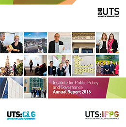Cover of UTS:IPPG 2016 Annual Report