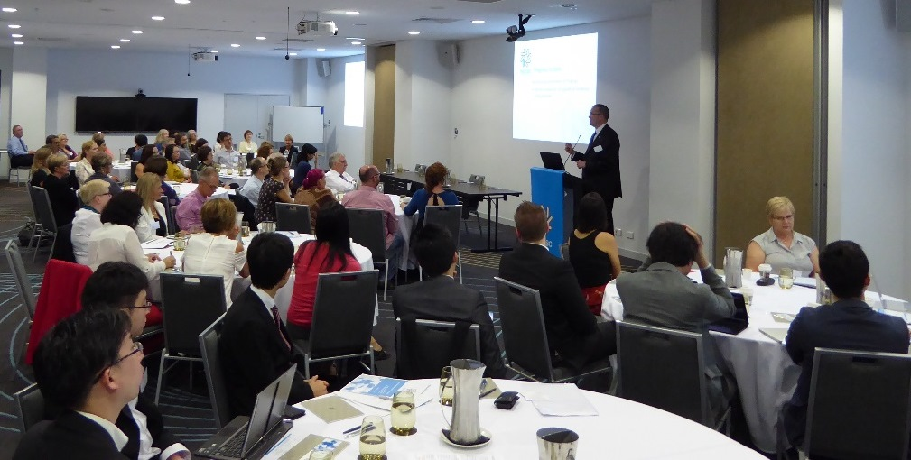 Prof Currow at Annual Research Forum