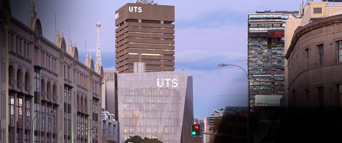 Image of UTS buildings from Broadway