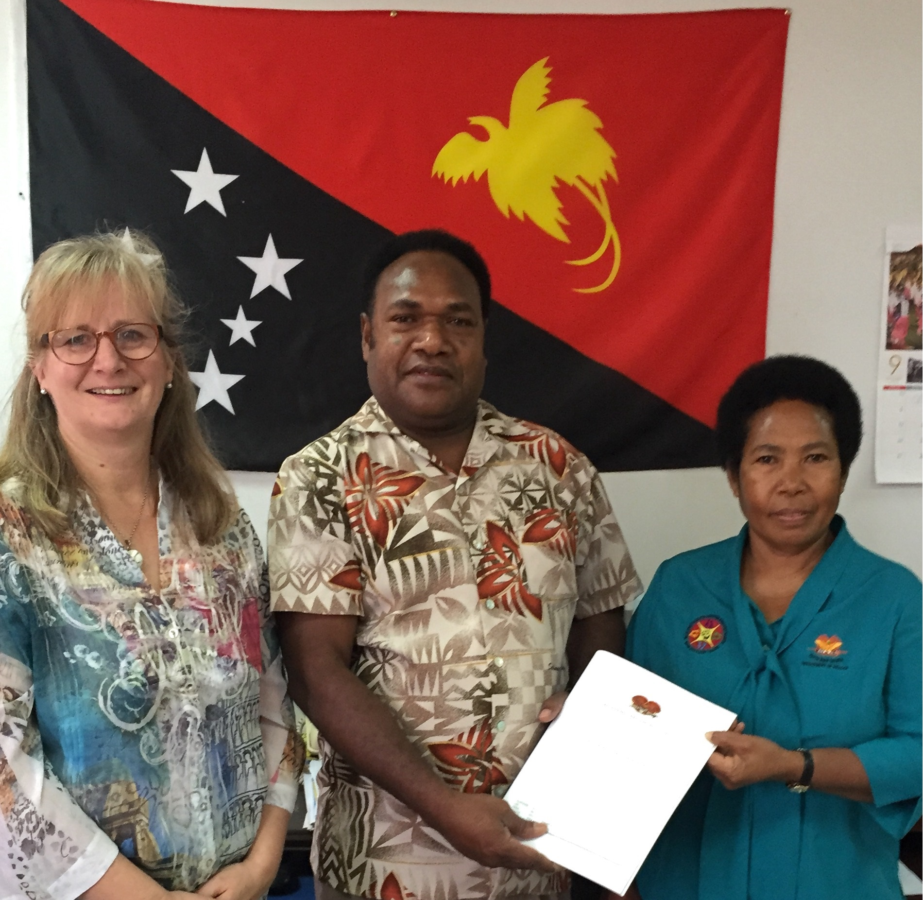 Ms Michele Rumsey, WHO CC UTS; Mr Pascoe Kase, Secretary for Health, PNG; Dr Nina Joseph, Acting Registrar PNG Nursing Council