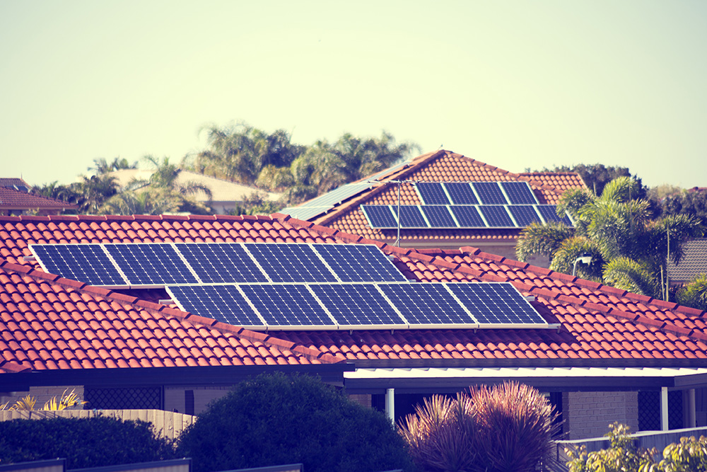An image depicting rooftop solar panels.