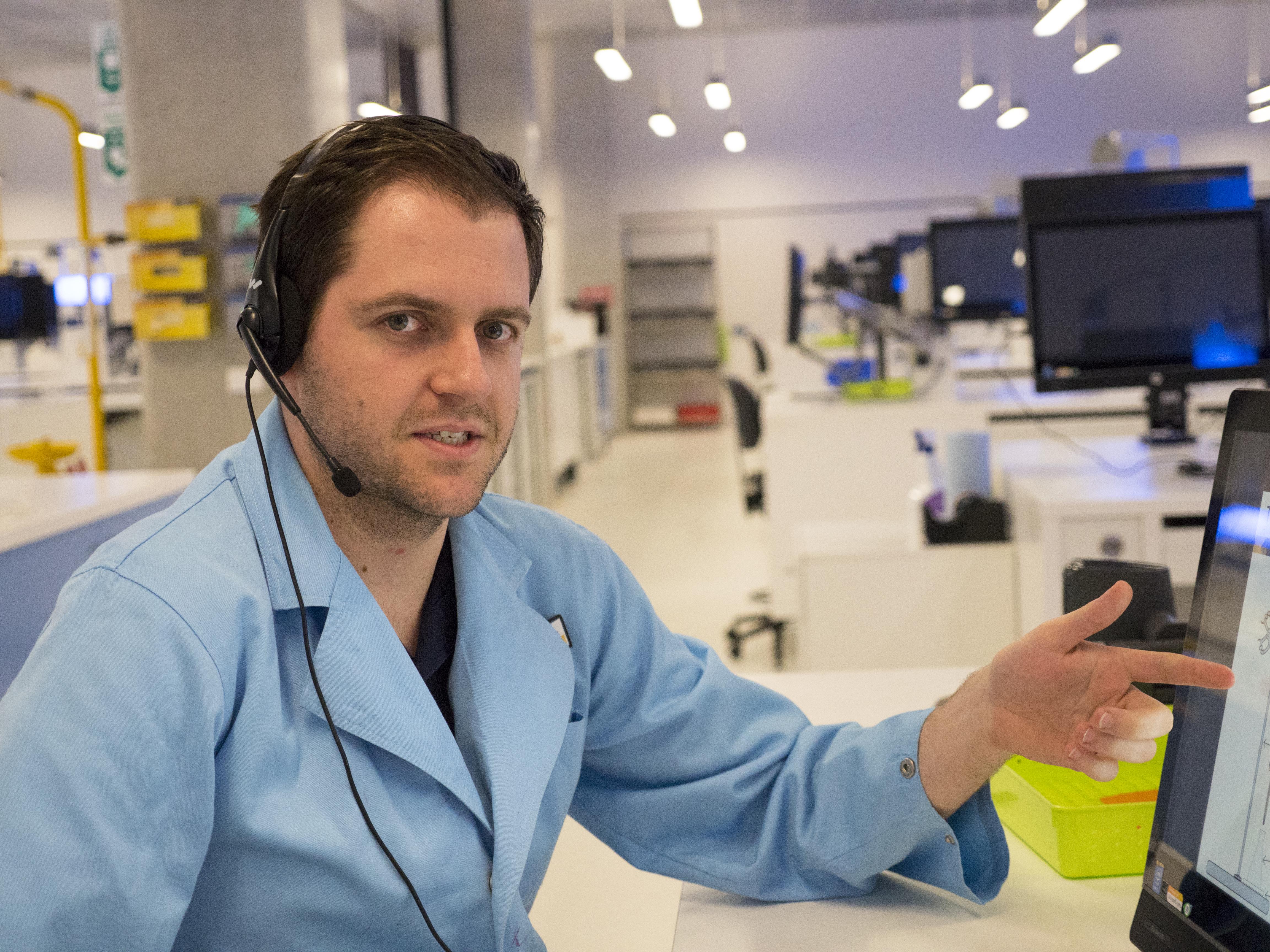 Scott Chadwick in his lab