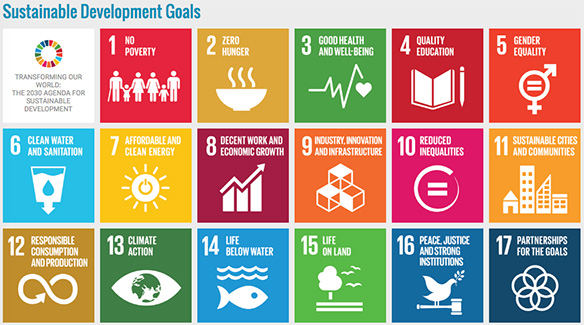 Graphic of the Sustainable Development Goals