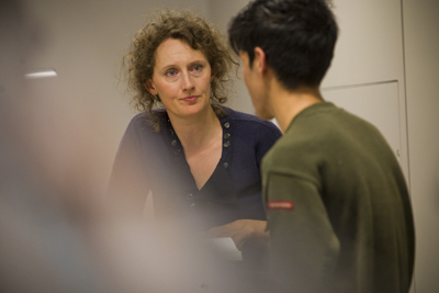 Academic Liaison Officer speaking with a student