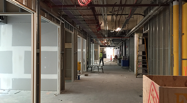 Spaces are beginning to take shape on levels 3 and 4.