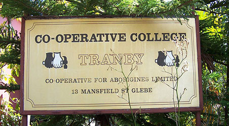Tranby Aboriginal College plaque