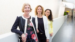 Photo of Professor Liz Sullivan, Professor Shari Forbes and Wei Wang
