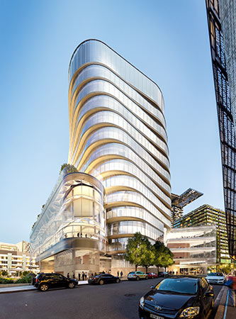 Artist's impression of Building 2 from Jones St