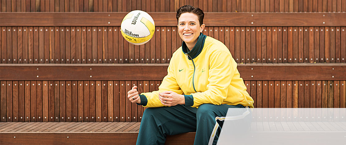 Liz Brett played volleyball for Australia in the 2000 Sydney Olympic Games