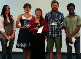 Kirralee (3rd from left) and other student award winners at ASPAB 2012