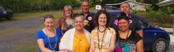 ISF and WHO Collaborating Centre researchers in the Cook Islands with Red Cross