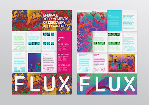 Flux Festival by Josh Roseburg. Distinction at the 2015 AGDA Awards