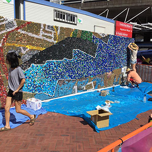 Uts Students Create Large Mural For Iconic Sydney Building