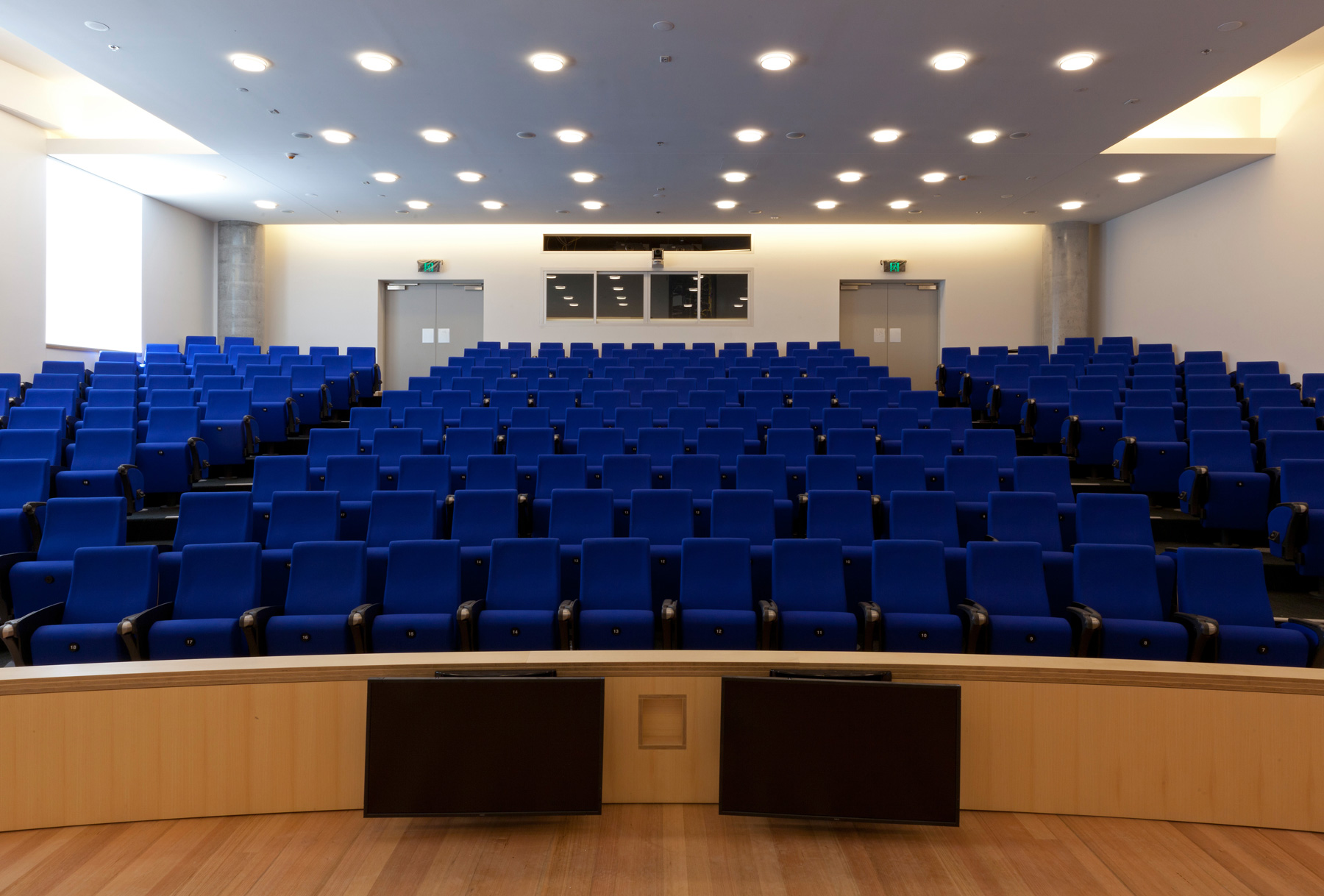 evel 2 Auditorium, the largest space in the building, seating up to 240 people. It will not be used for teaching and learning, but for presentations, ceremonies and conferences.