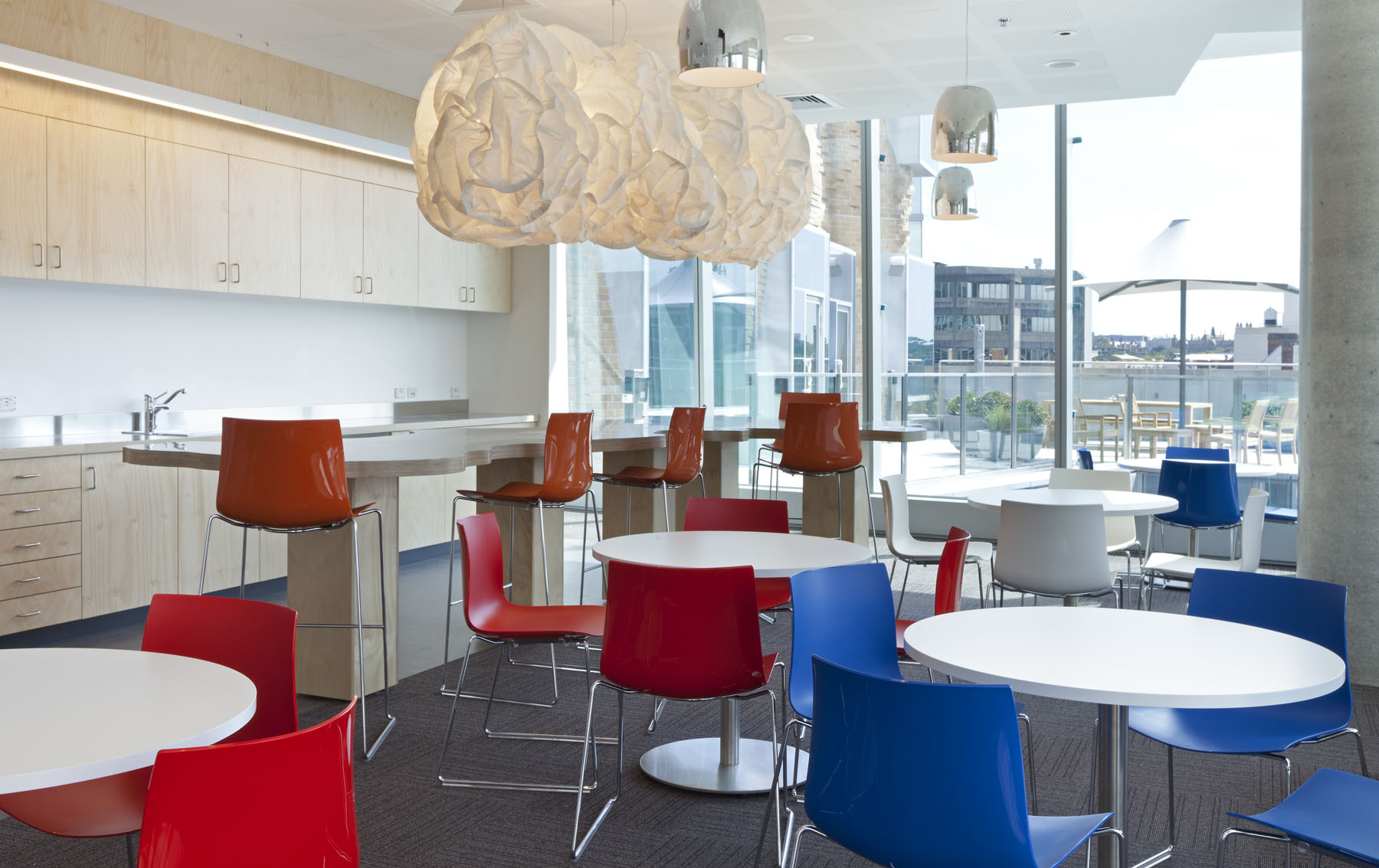 Level 8 - Staff Lounge featuring cloud lighting