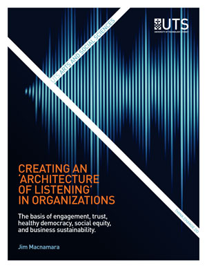 Cover of the research report Creating an Architecture of Listening in Organizations