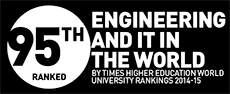 Ranked No. 95 in Engineering and IT in the World by Times Higher Education World University Ranings 2014-15