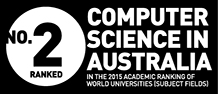 Ranked No. 2 for Computer Science in Australia in the 2015 academic ranking of world universities (subject fields)