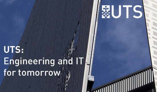 Image of FEIT building promo for the tomorrow.uts.edu.au campaign