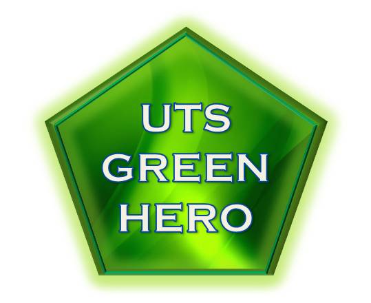 UTS Green Hero Awards logo