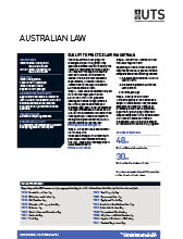 2017 Australian Law course guide cover