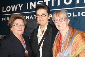 Dame Carol Kidu, Prof. Patricia Brodie and Michele Rumsey