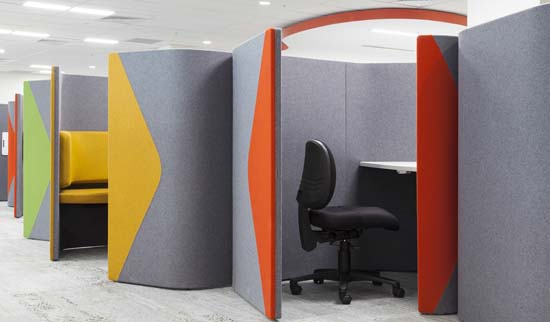 Health research student space, pods