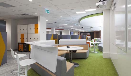 Health research student space, project spaces